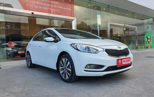 Cần bán xe Kia K3 2.0AT 2014 màu trắng gia đình BS Đồng Nai đi 82.888km - xe cũ chính hãng giá tốt1