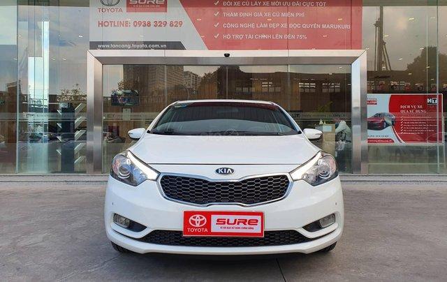 Cần bán xe Kia K3 2.0AT 2014 màu trắng gia đình BS Đồng Nai đi 82.888km - xe cũ chính hãng giá tốt0