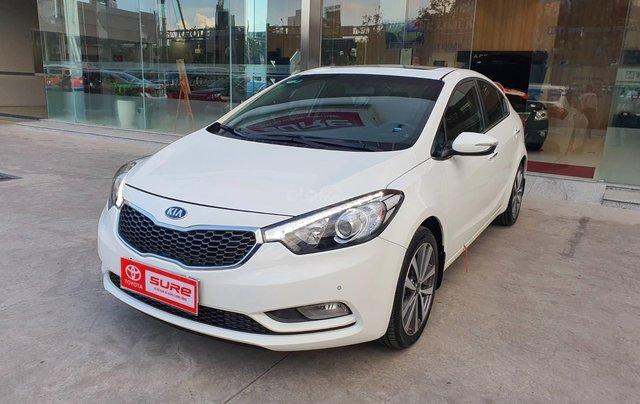 Cần bán xe Kia K3 2.0AT 2014 màu trắng gia đình BS Đồng Nai đi 82.888km - xe cũ chính hãng giá tốt2