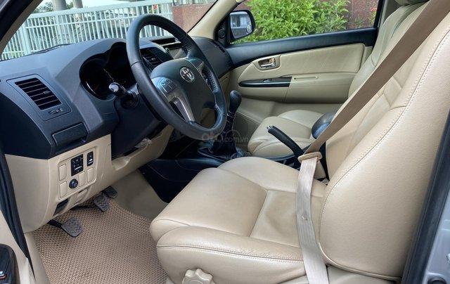 Bán Toyota Fortuner 2.5G, số sàn, máy dầu, sản xuất 2016, màu bạc, xe đẹp BSTP, trang bị đầy đủ đồ7