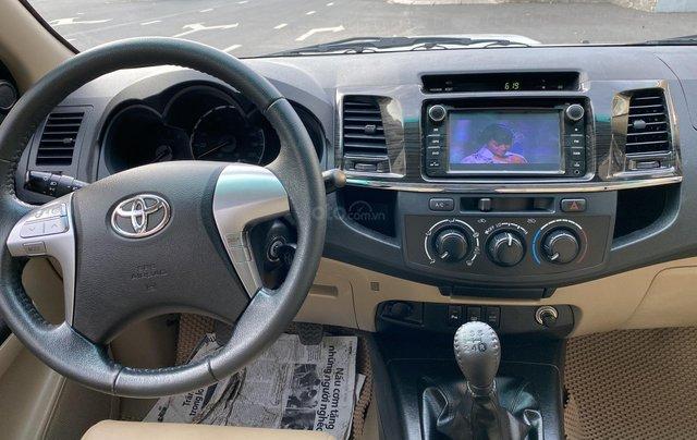 Bán Toyota Fortuner 2.5G, số sàn, máy dầu, sản xuất 2016, màu bạc, xe đẹp BSTP, trang bị đầy đủ đồ9