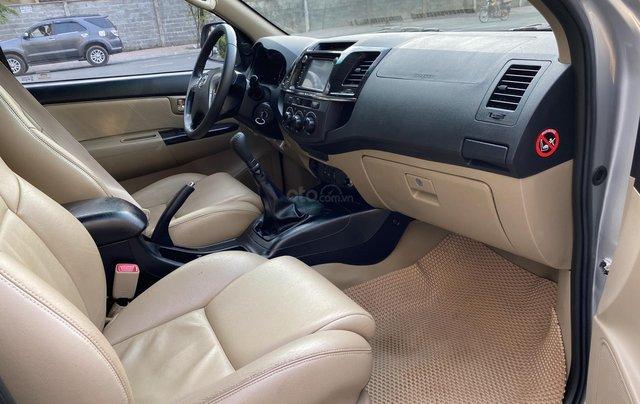 Bán Toyota Fortuner 2.5G, số sàn, máy dầu, sản xuất 2016, màu bạc, xe đẹp BSTP, trang bị đầy đủ đồ11
