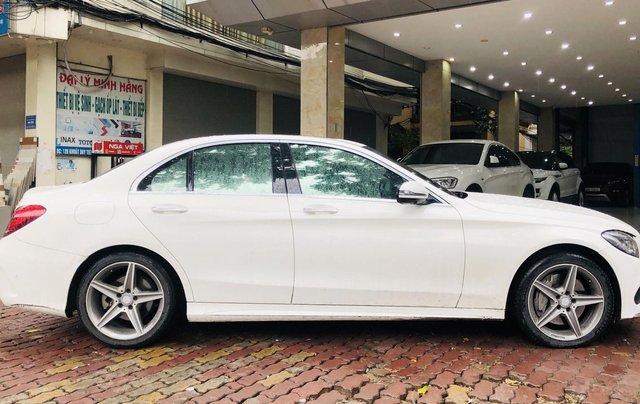 Mercedes C300 AMG màu trắng cực mới0