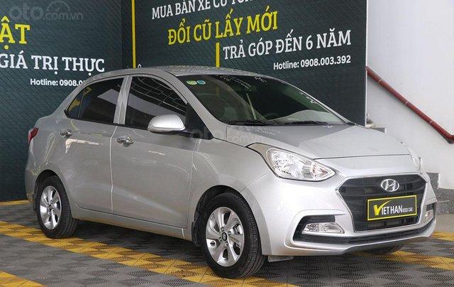 Hyundai Grand i10 1.2AT 2019 (Sedan), màu bạc0