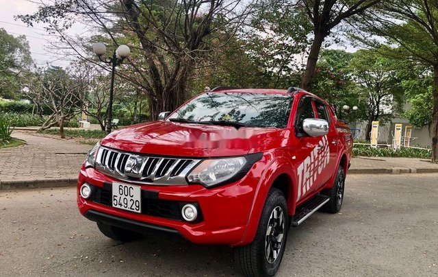 Cần bán xe Mitsubishi Triton đời 2015, màu đỏ, xe nhập số sàn, 385 triệu2