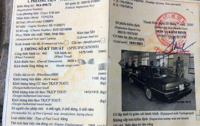Cần bán xe Toyota Camry đời 1990, màu xám, nhập khẩu còn mới, giá chỉ 39 triệu7