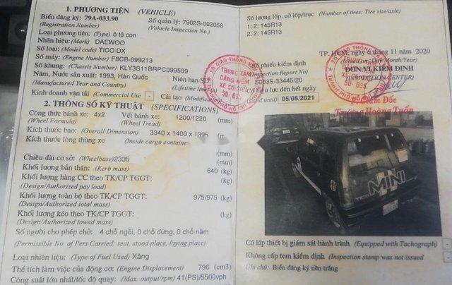 Bán Daewoo Tico sản xuất 1994, màu xanh lam, xe nhập chính chủ, 60 triệu5