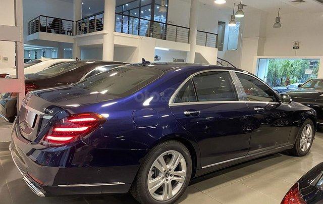 Bán xe Mercedes S450L màu xanh, nội thất nâu, đăng ký 2020, chạy 999 km, mới 99%, giá cực hợp lý3