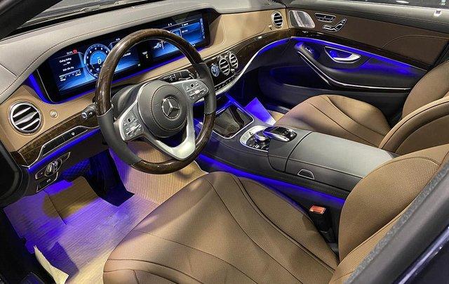 Bán xe Mercedes S450L màu xanh, nội thất nâu, đăng ký 2020, chạy 999 km, mới 99%, giá cực hợp lý4