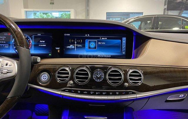 Bán xe Mercedes S450L màu xanh, nội thất nâu, đăng ký 2020, chạy 999 km, mới 99%, giá cực hợp lý6