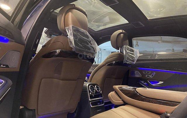 Bán xe Mercedes S450L màu xanh, nội thất nâu, đăng ký 2020, chạy 999 km, mới 99%, giá cực hợp lý8