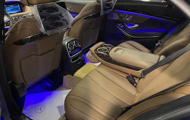 Bán xe Mercedes S450L màu xanh, nội thất nâu, đăng ký 2020, chạy 999 km, mới 99%, giá cực hợp lý10