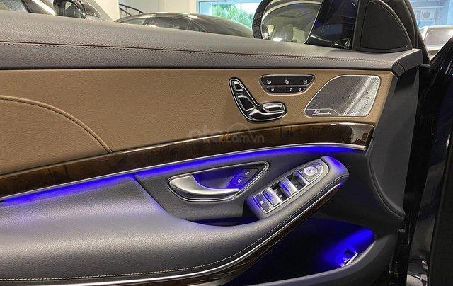 Bán xe Mercedes S450L màu xanh, nội thất nâu, đăng ký 2020, chạy 999 km, mới 99%, giá cực hợp lý11