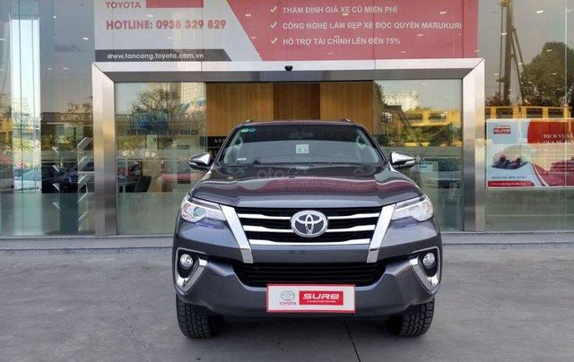 Cần bán xe Toyota Fortuner 2.7V 4x2 AT 2017 màu xám, xe gia đình, HCM - xe cũ chính hãng giá tốt0