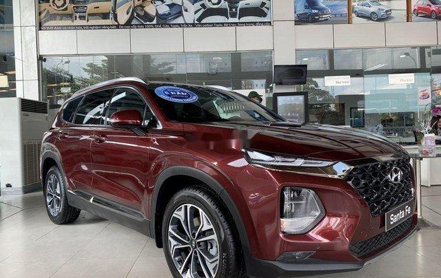 Bán ô tô Hyundai Santa Fe năm 2020, màu đỏ0