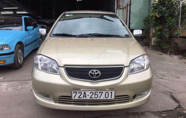 Bán ô tô Toyota Vios 2003, màu vàng chính chủ0