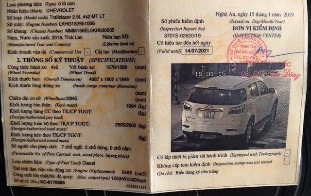 Do nhu cầu muốn mua xe số tự động nên cần thanh lý xe Chevrolet Trailblazer 4x2 LT 7 chỗ sx 2018, đăng kí 2019, số sàn3