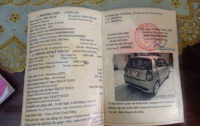 Cần bán lại xe Kia Morning 2010, 120tr7