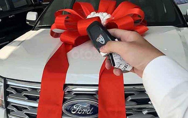 Bán xe Ford Explorer Limited 2.3L EcoBoost năm sản xuất 2020, màu trắng, xe nhập1