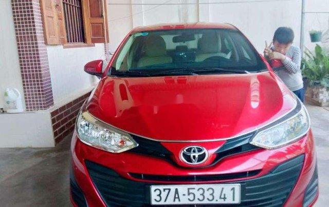 Cần bán lại xe Toyota Vios sản xuất năm 2019, màu đỏ0