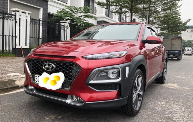 Hyundai Kona 1.6 Turbo sản xuất năm 2019, màu đỏ còn mới nguyên3