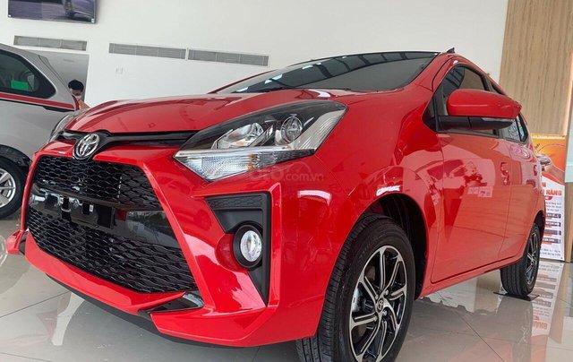 Toyota Wigo 1.2G màu đỏ số tự động giao ngay - khuyến mãi tốt1