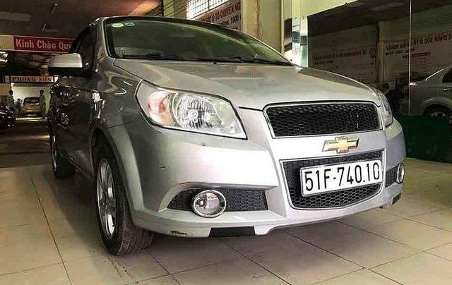 Cần bán xe Chevrolet Aveo sản xuất năm 2016, màu bạc số sàn1
