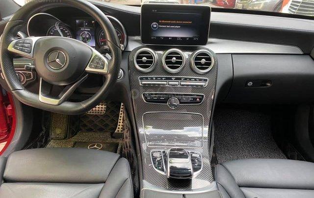 Bán xe C300 AMG SX 2017 - model 2018 màu đỏ/ nội thất đen6