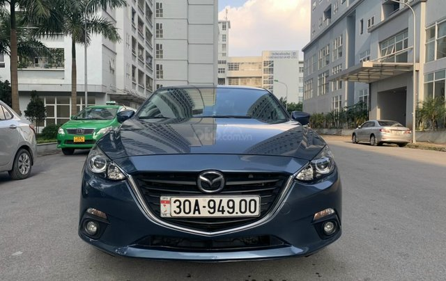 Bán Mazda 3 1.5 AT sản xuất năm 2015 màu xanh lam nguyên zin, giá tốt1