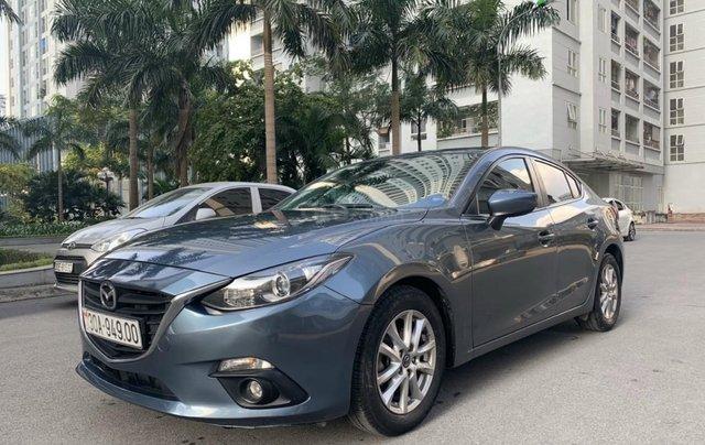 Bán Mazda 3 1.5 AT sản xuất năm 2015 màu xanh lam nguyên zin, giá tốt0