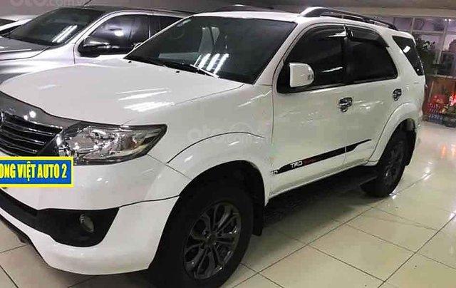 Bán ô tô Toyota Fortuner 2.7V 4x2AT sản xuất năm 2014, màu trắng0