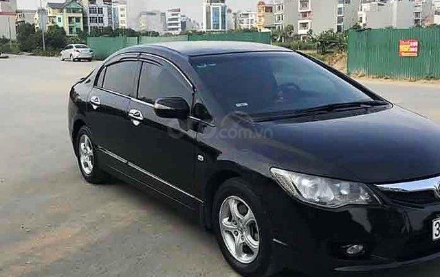 Cần bán lại xe Honda Civic sản xuất 2010, màu đen2