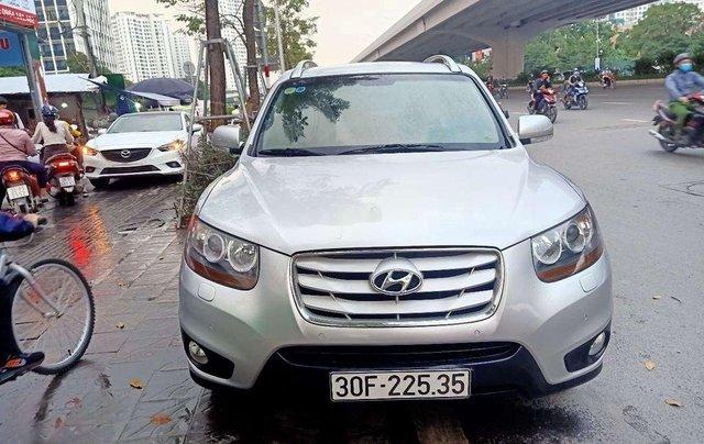 Bán ô tô Hyundai Santa Fe đời 2009, màu bạc, nhập khẩu nguyên chiếc0