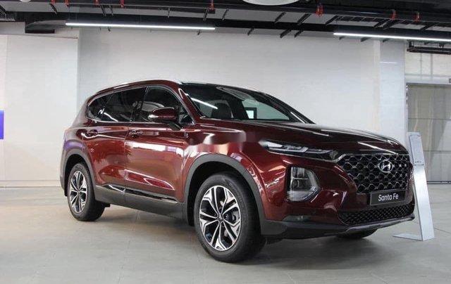 Bán ô tô Hyundai Santa Fe đời 2020, màu đỏ, giá 952tr3