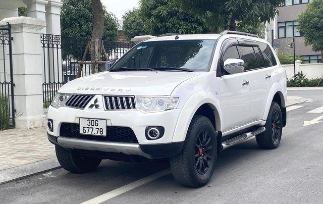 Mitsubishi Pajero Sport sản xuất 2012, số sàn 2 cầu màu trắng0