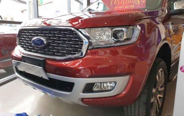 Bán xe Ford Everest Titanium 4WD năm 2020, màu đỏ, nhập khẩu nguyên chiếc0