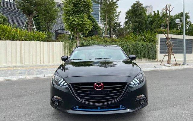 Mazda 3 Sedan 1.5AT sản xuất 2015 màu đen, nội thất đen0