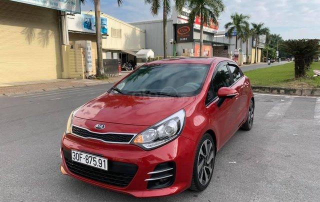 Cần bán xe Kia Rio 1.4AT SX 2015, màu đỏ1