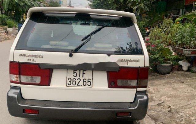 Bán ô tô Ssangyong Musso 2001, màu trắng, nhập khẩu2