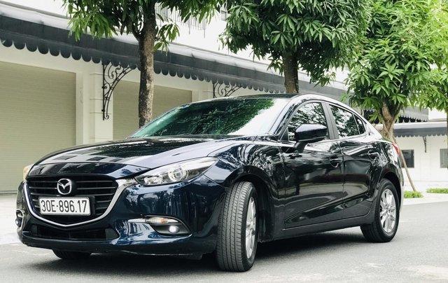 Bán nhanh Mazda 3 Facelift đời 2017 màu xanh tím than, xe siêu đẹp biển HN0