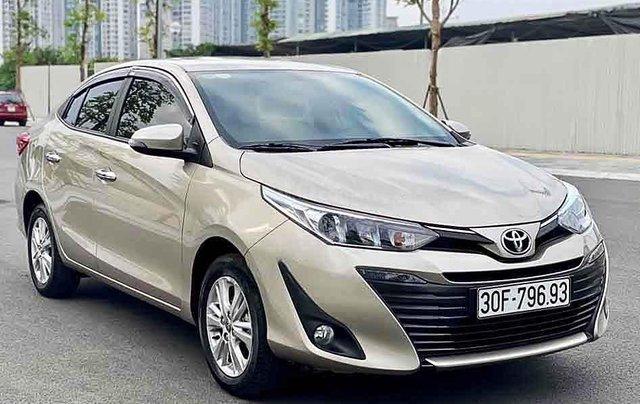 Bán xe Toyota Vios năm sản xuất 2019, màu vàng cát0