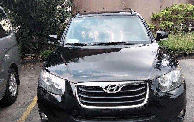 Cần bán xe Hyundai Santa Fe đời 2011, màu đen, nhập khẩu0