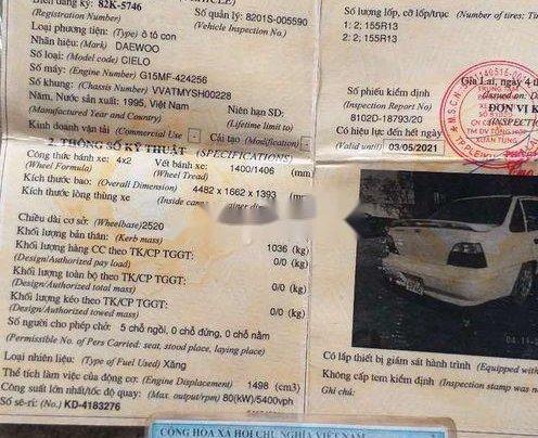 Cần bán xe Daewoo Cielo sản xuất 1996, màu trắng, nhập khẩu10