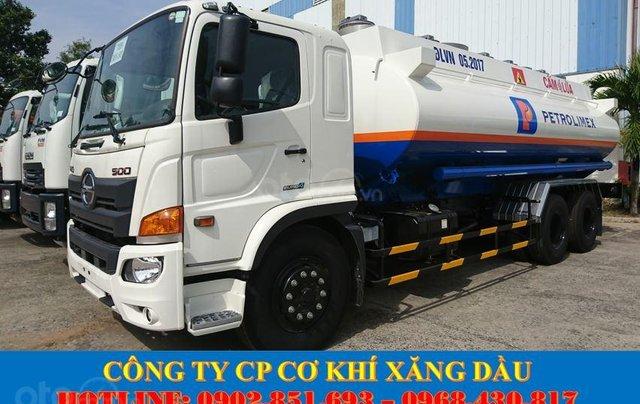 Bán xe bồn Hino 18 khối chở xăng dầu, xe bồn Hino 3 chân chở xăng dầu giá tốt2
