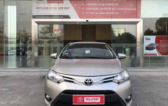 Cần bán xe Toyota Vios 1.5E CVT 2018 nâu vàng GĐ HCM đi 70000km - chính hãng Toyota Sure0