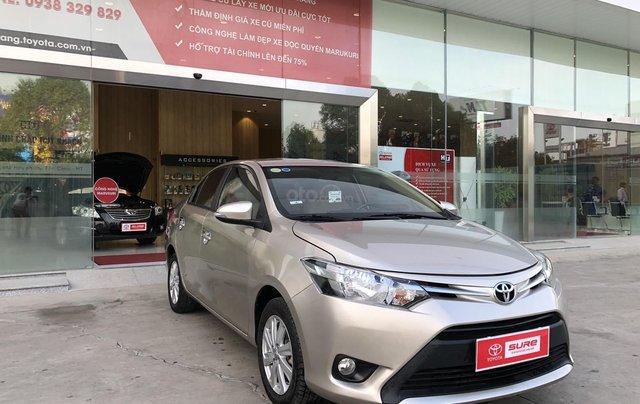 Cần bán xe Toyota Vios 1.5E CVT 2018 nâu vàng GĐ HCM đi 70000km - chính hãng Toyota Sure1