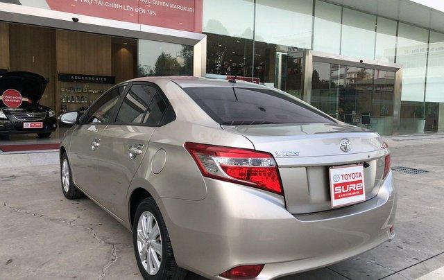 Cần bán xe Toyota Vios 1.5E CVT 2018 nâu vàng GĐ HCM đi 70000km - chính hãng Toyota Sure6