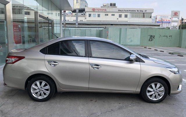 Cần bán xe Toyota Vios 1.5E CVT 2018 nâu vàng GĐ HCM đi 70000km - chính hãng Toyota Sure4