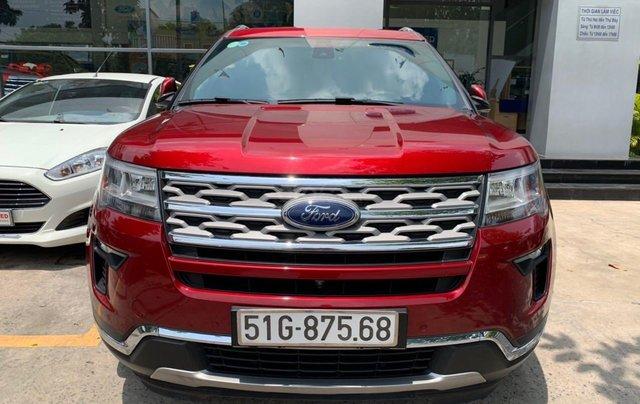 Cần bán lại xe Ford Explorer đời 2018, màu đỏ, chính chủ, giá chỉ 1 tỷ 880 triệu đồng0
