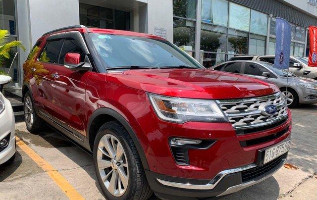 Cần bán lại xe Ford Explorer đời 2018, màu đỏ, chính chủ, giá chỉ 1 tỷ 880 triệu đồng2